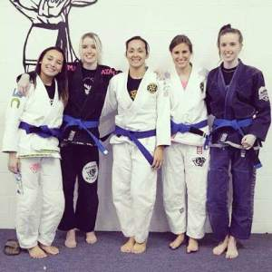 The Ribeiro Toledo female blue belts